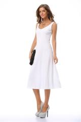 2016 NEW ZINC FASHION women slim slim waist sleeveless strapless dress skirt pendulum white S