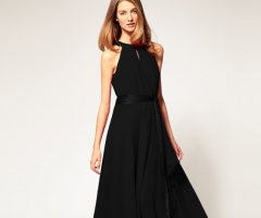 The new large group of sleeveless sexy strapless dress black free