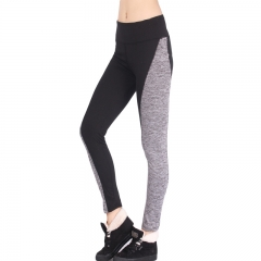 The new AB double-sided black and gray stitching hip elastic waist leggings Yoga pants black s