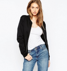 Big fashion jacket solid baseball jacket burst models black m