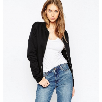 Big fashion jacket solid baseball jacket burst models black m