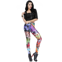 Selling new graffiti printed high waist leggings pencil pants as the picture s