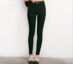 New arrival fashion Waist Leggings Elastic Pants Women's Black Pants Pencil Pants black s
