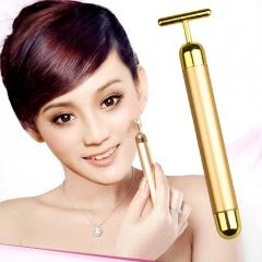Beauty bar beauty instrument live firming stick electric beauty T rod massager golden