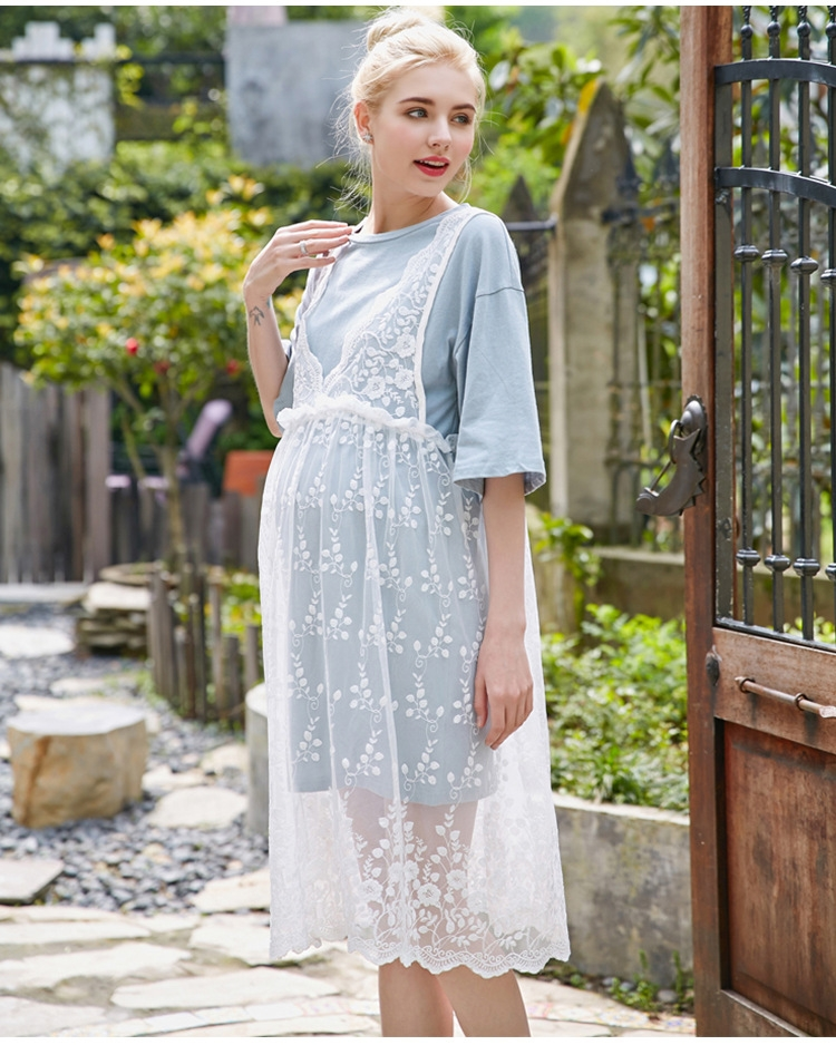 61e27cb63a54 New spring and summer leisure lace hollow high waist two sets of ...