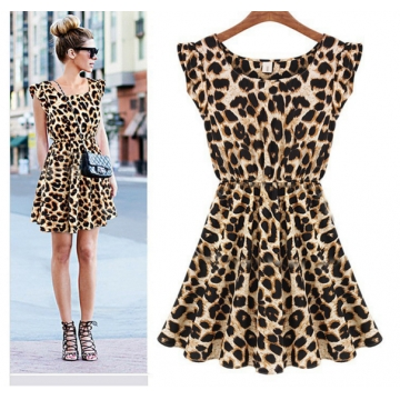 ZINC NEW fashion Nightclub sexy leopard dress as the picture l