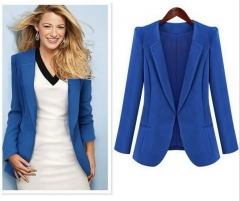 ZINC Hot Slim Black/Blue Small suit jacket blue s