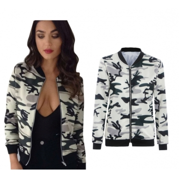 ZINC Big sale Long sleeve camouflage thin coat cardigan as the picture m