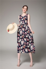 ZINC New retro floral dress beach dress as the picture s
