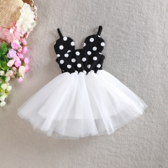 Baby  Girls Princess Lace Dresses Micky Mouse Party Dress white 90cm