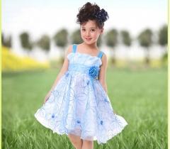 The big swing Princess Dress Girls suspenders skirt blue 130cm