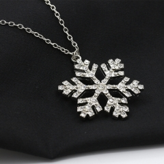 ZINC new fashion snow pendant necklace silver as the picture