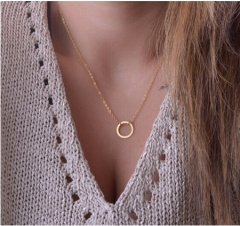 Fashion Simple jewelry necklace golden one size