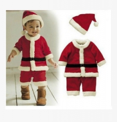 New children's Christmas costume Christmas Santa Claus boys and girls suits pants 80cm