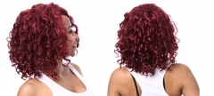 Fashion African wig female BOBO short paragraph Red wine Hair curlers wine one size