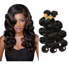 3 PIECES BRAZILIAN 1B BUNDLE BODY WAVE 100% UNPROCESSED HUMAN HAIR 1b 6 8 10inch