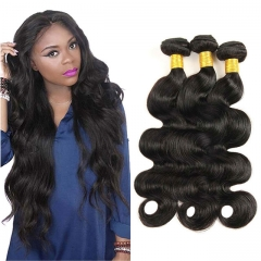 grade 7a virgin human hair indian remy hair weave body wave 3 bundles for women 1b 6 8 10inch