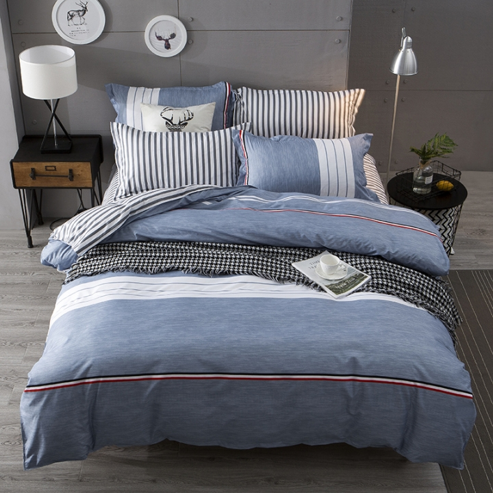 Love Home thick Aloe Cotton New Duvet Cover 4 Pieces Bedding Sets Multicolor 5*6