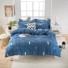 Love Home thick Aloe Cotton New Duvet Cover 4 Pieces Bedding Sets Light Blue 5*6