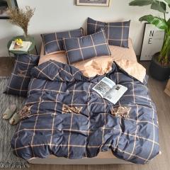 Love Home New 4 pcs modern stylish grey and white bedding comforter sets BOY 6*6