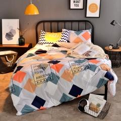 Polyester 4pcs Duvet Cover Sheet Bed Linen Bedclothes Pillowcase Gentleman Colourful 5*6
