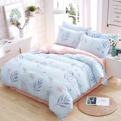 New style 100% pure cotton bedding sets come with duvet cover flat sheet and pillow cases Leaf 5*6