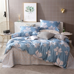 Love Home New 4 pcs modern stylish grey and white bedding comforter sets Leaf 5*6
