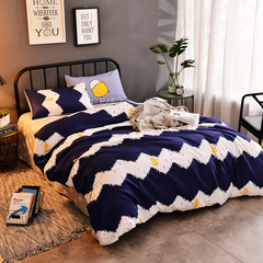 Love Home New 4 pcs modern stylish grey and white bedding comforter sets Ocean 5*6