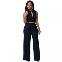 Sexy V-neck Sleeveless Long Bodysuit Elegant Rompers Womens Jump suit Playsuit Overalls black XXL