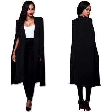 Fashion Cloak Jacket Women Coat Business Suit Coat black M