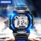 Children 's Watches Boys Girls waterproof Sports Electronic Watch for 8-21Y Students bule