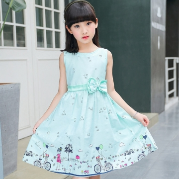 Kids Girl Clothes Student Summer Dress style 1 100