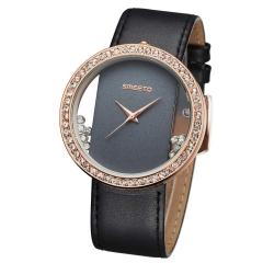 New Rhinestone Lady Watch Bracelet Quartz Analog Casual Watch black
