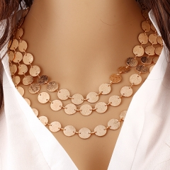 Women Necklace Lady Necklace Fashion Casual Golden Necklace no.1 normal