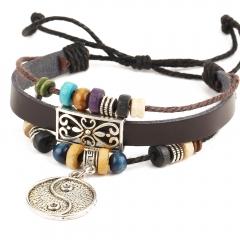 Leather Man Bracelet Cool Boy Bracelet,hotsale Bracelet no.1