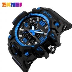 Sports Watch Super Cool Men's Quartz Digital Men Watches LED Military Waterproof Wristwatches blue