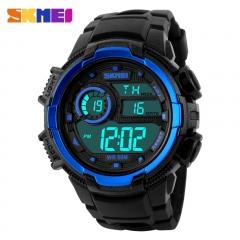 Sports Watches Men Army Military LED Digital Watch Men's Wristwatches waterproof Quartz Man Watches blue