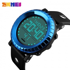 Digital Watch Waterproof Outdoor Casual Sport Watches LED Chronograph Alarm Man Watch blue