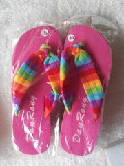 Ms. foam heeled slippers