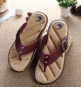 Hot Sale Brand Men Casual Flat Sandals,Leisure Flip Flops,EVA Massage Beach Slipper Shoes For Men Big Size 40-45
