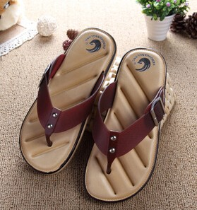 Hot Sale Brand Men Casual Flat Sandals,Leisure Flip Flops,EVA Massage Beach Slipper Shoes   40-45