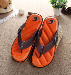Hot Sale Brand Men Casual Flat Sandals,Leisure Flip Flops,EVA Massage Beach Slipper Shoes 40-45 orange 42