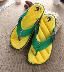 Hot Sale Brand Men Casual Flat Sandals,Leisure Flip Flops,EVA Massage Beach Slipper Shoes 40-45 yellow 44