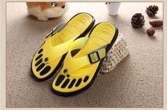 Plus Size Sandals For Men Rubber Casual Fashion Slippers Summer Flip Flops Crimson Shoes Size 40-45 yellow 40