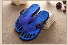 Plus Size Sandals For Men Rubber Casual Fashion Slippers Summer Flip Flops Crimson Shoes Size 40-45 blue 41