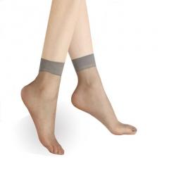 5 Pcs Summer bamboo female Short Socks Women's Thin Crystal Socks Transparent Thin Silk Socks dark gray one size