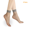 5 Pairs Summer bamboo female Short Socks Women's Thin Crystal Socks Transparent Thin Silk Socks dark gray one size
