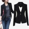 Autumn Outwear Women Slim Casual OL Short Suit Coat Jacket back m