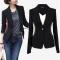 Autumn Outwear Women Slim Casual OL Short Suit Coat Jacket back xxl