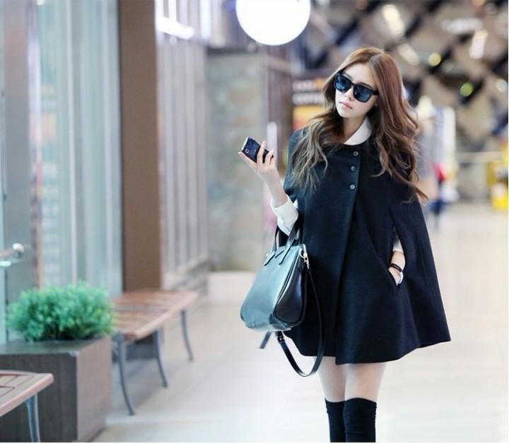 Korean Classic women Winter Jacket Winter Down Winter Coat black m